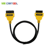 AUTOOL ELM327 OBD2 16Pin Extension Cable 1.5m Extension Cable 16 Pin ELM327 OBD II OBD2 Extension Cable Connector