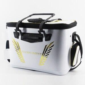 Image 2 - 2018 New DAIWA DAWA Bait Bucket Light Outdoor Multi functional Bait Box Bait Bag Portable Outdoor Fishing Pail 40CM 45CM