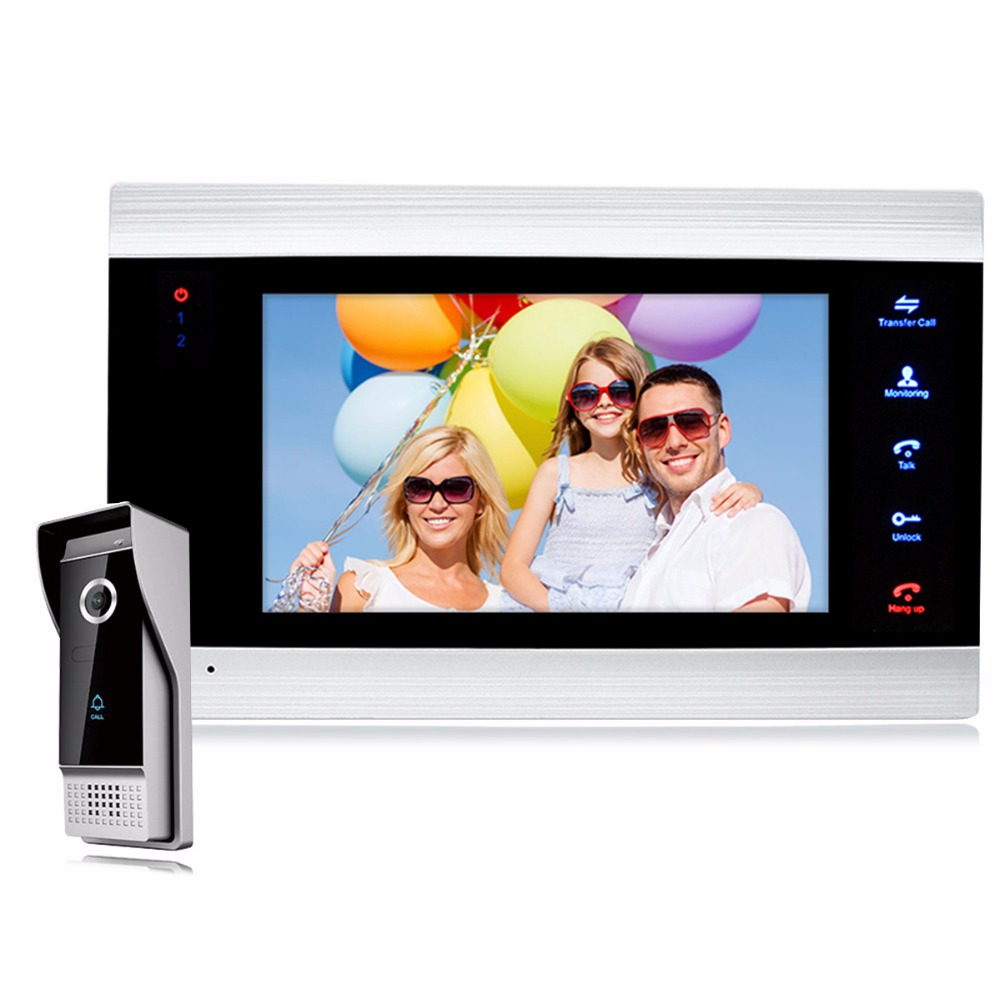7 ЖК дисплей Дисплей видео звонок Домофон Системы телефон двери с 1200TVL Открытый ИК Камера F1408