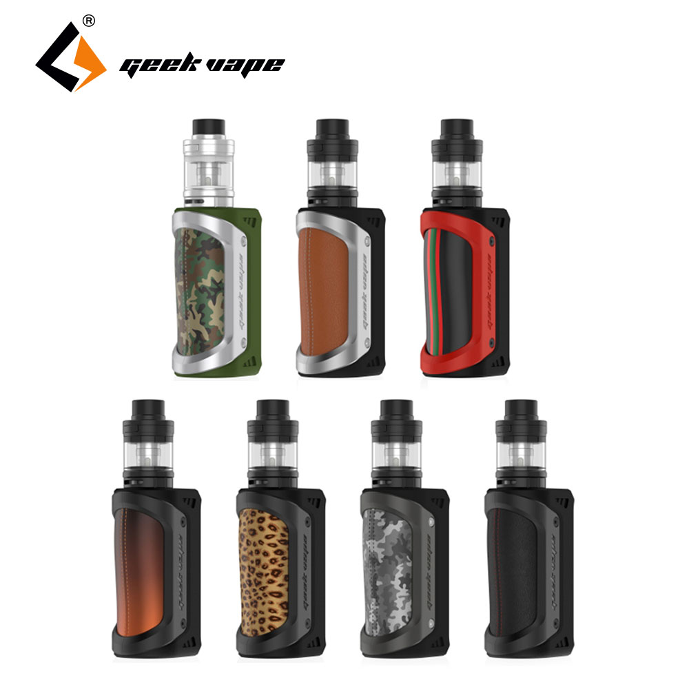 Original 100W GeekVape Aegis Kit 26650 Aegis TC BOX MOD with 4.5ml Shield Tank Top Refill & Bottom Airflow e cigs Vape Kit kvp lover 120w tc box mod kit