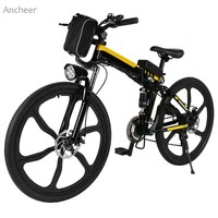 26inch 21 Speed Mountain Bike Foldable Electric Power Mountain Bicycle Lithium Ion Battery Aluminum Alloy Bicycle