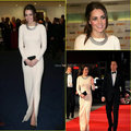 Kate Middleton Celebrity Dress Red Carpet 2017 Vestidos de Noche por Jenny Packham Vendimia Joya Cuello de Manga Larga Vestidos de Noche