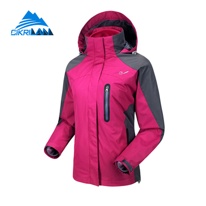 Hot Sale 3in1 Thermal Windstopper Anti-scratch Winter Jacket Women Hiking Climbing Coat Outdoor Sport Camping Chaquetas Mujer цены онлайн