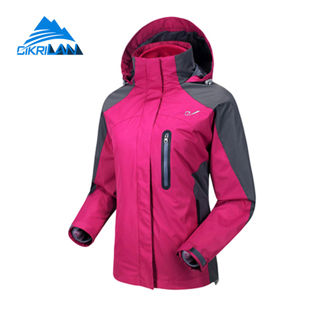 2aaab7400 Hot Sale 3in1 Thermal Windstopper Anti-scratch Winter Jacket Women Hiking  Climbing Coat Outdoor Sport Camping Chaquetas Mujer