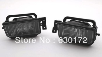 Front Fog Light Assembly Rough Smoke Lens (Reflector Type) For BMW 5 Series E34 1988 - 1995