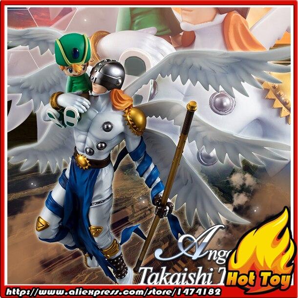 100% Original MegaHouse G.E.M. Complete Figure - Angemon & Takeru Takaishi from Digimon Adventure 100% original megahouse g e m remix complete figure uzumaki naruto