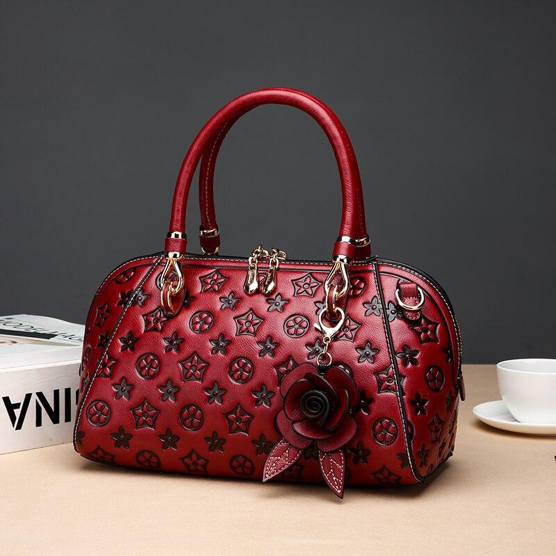 Nouveau 2019 femmes sac à main en cuir fleur pendentif femelle sac messenger épaule lady sac bandoulière sac à main marque designer sacs