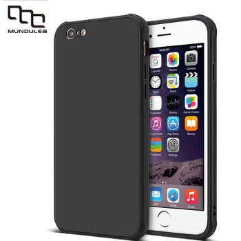 Mundulea Surface Matte Coque For iphone 6 plus 7 plus Clear Shockproof Anri-slip Cover for iphone 6s plus 8 plus Case Capa iphone 6