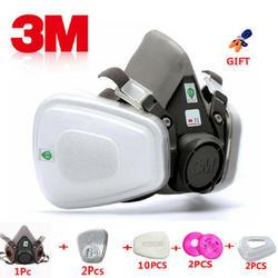 17 в 1 3 м 6200 промышленная полумаска спрей краска противогаз респираторная Защита Безопасность работа пыленепроницаемый Респиратор маска