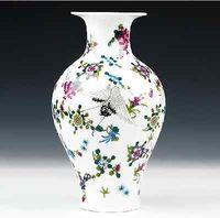 Ptaki Żuraw Hok oznaczono Chiński Ceramiki Porcelany Wazon Zun Puchar Butelka Pot Jar