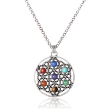 LGBT Chakra Stone Gold Silver Chain Necklace