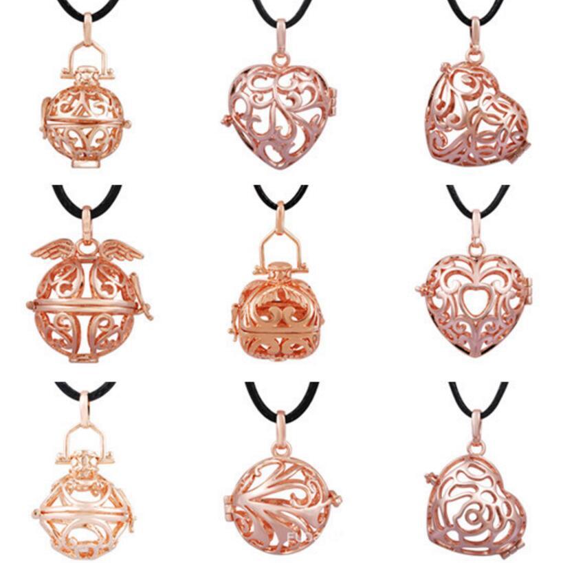 9H-E-20 9PCS/lot 20mm Baby Caller Pendants Rose Gold Locket Pendant Meixcan Ball Bola Pendant Jewelry