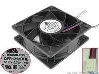 Delta QFR1212GHE F00 DC 12V 2 70A 120x120x38mm Server Square Fan