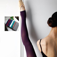 Dance Michelle Two Wear Elastic Core Silk Good Quality Transparent Velvet Foot Socks
