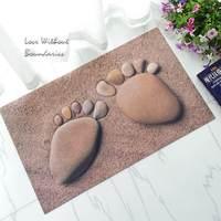3d石畳の足の花ゴムbalataカーペット