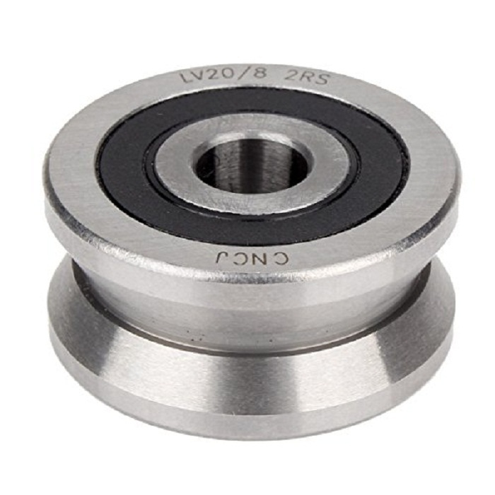 1pcs V Groove 8*30*14mm Sealed Ball Track Roller Guide V groove roller wheel Silver Steel Bearing