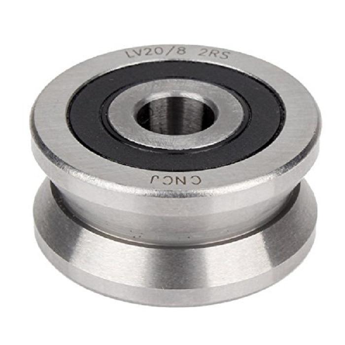 где купить 1pcs V Groove 8*30*14mm Sealed Ball Track Roller Guide V groove roller wheel Silver Steel Bearing по лучшей цене