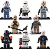50Pcs/Lot Star Wars Figures REBEL TROOPER STORMTROOPER CLONE TURBO TANK Legoing Building Blocks Bricks Toys Children Gift G001