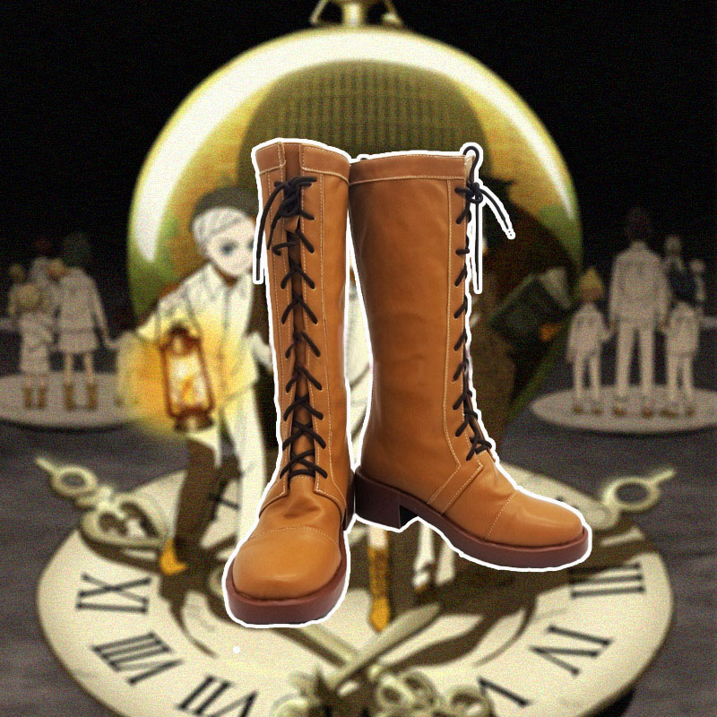 New The Promised Neverland Emma Norman Ray Cosplay Boots Anime Shoes Custom Made
