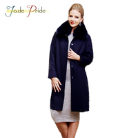 Jade Pride 2017 Nepalese Clothing Female Denmark Mink Liner Fur Coat In The Long Section Of