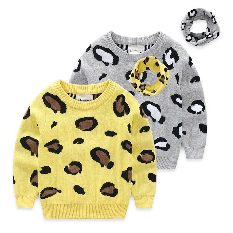 Christmas Sweater Children Baby Girl Winter Clothes 2017 Girls Boys Thickening Double Sweater+Bib Sets O-Neck Pullover Cardigan t100 children sweater winter wool girl child cartoon thick knitted girls cardigan warm sweater long sleeve toddler cardigan