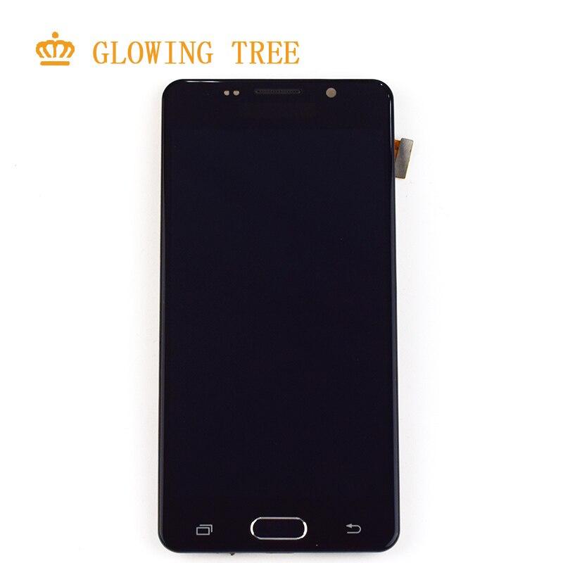 Réglable Pour Samsung Galaxy A5 2016 A510 LCD A510F A510M SM-A510F LCD Module D'affichage + Écran Tactile Capteur Assemblée Verre cadre