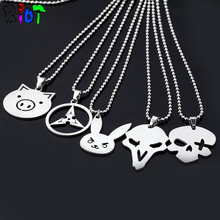 5Types Game Overwatch Necklace Stainless Steel Pendant New Jewelry Choker jewelry For Men And Woman Tracer Reaper OW Charms Gift