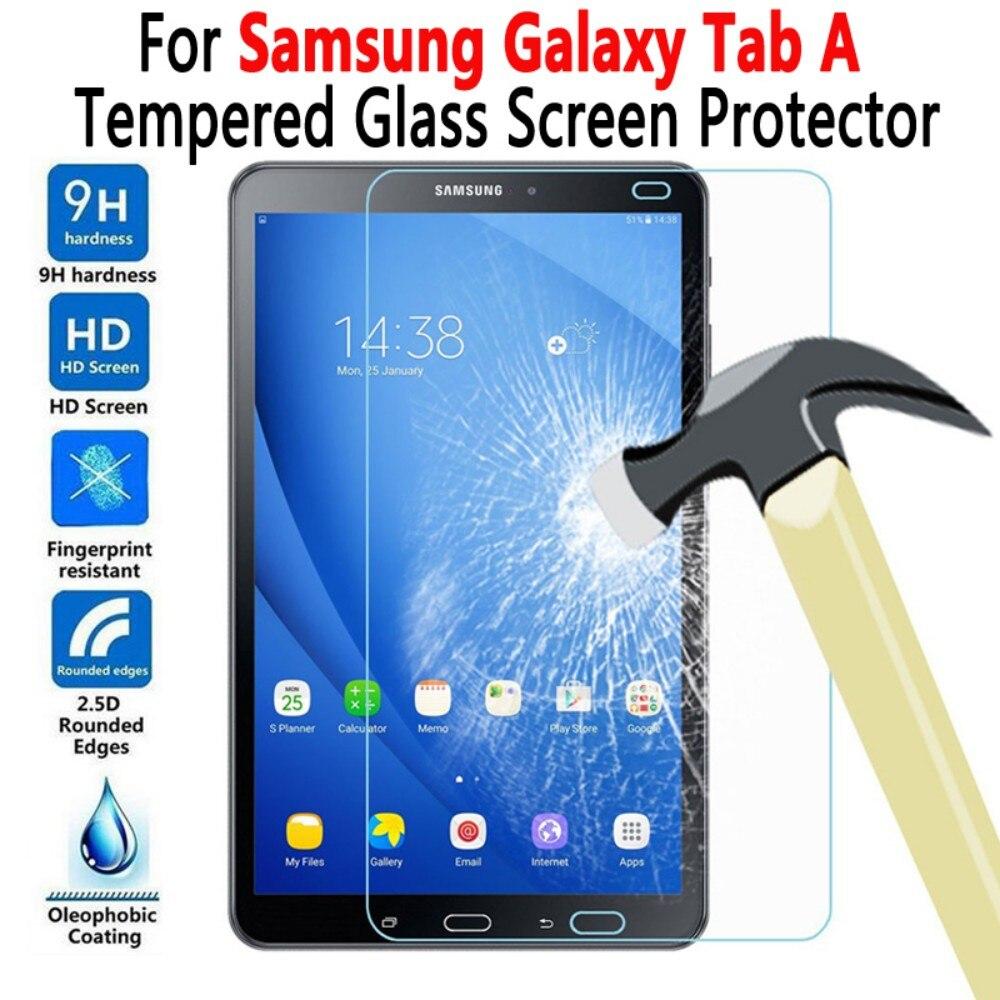 Para Samsung Galaxy Tab A 7,0, 8,0, 9,7, 10,1, 10,5 T280 T285 T350 T380 T385 T550 T555 T580 T585 P580 Protector de pantalla de vidrio templado