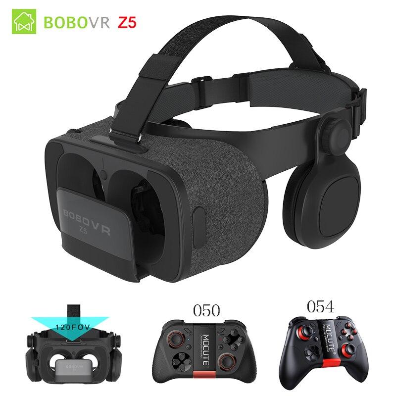 BOBOVRZ5 120 FOV 3D Cardboard VR BOX Remote Helmet Virtual Reality Glasses VR Headset Googles glasses