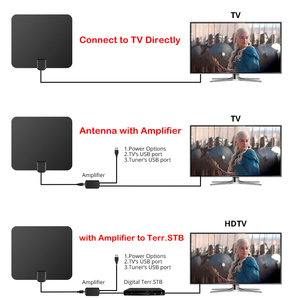 Image 5 - 150 Miles Indoor DTV Digital TV Antenna HDTV Antena HD Cable TV Antena with Signal Amplifier Booster DVB T/T2 UHF VHF Antennas