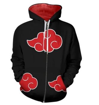 a36d7d8b New fashion Cool sweatshirt Hoodies Men women printed 3D Anime Naruto hoodie  cosplay Streetwear hip hop tracksuit Zipper Hoody