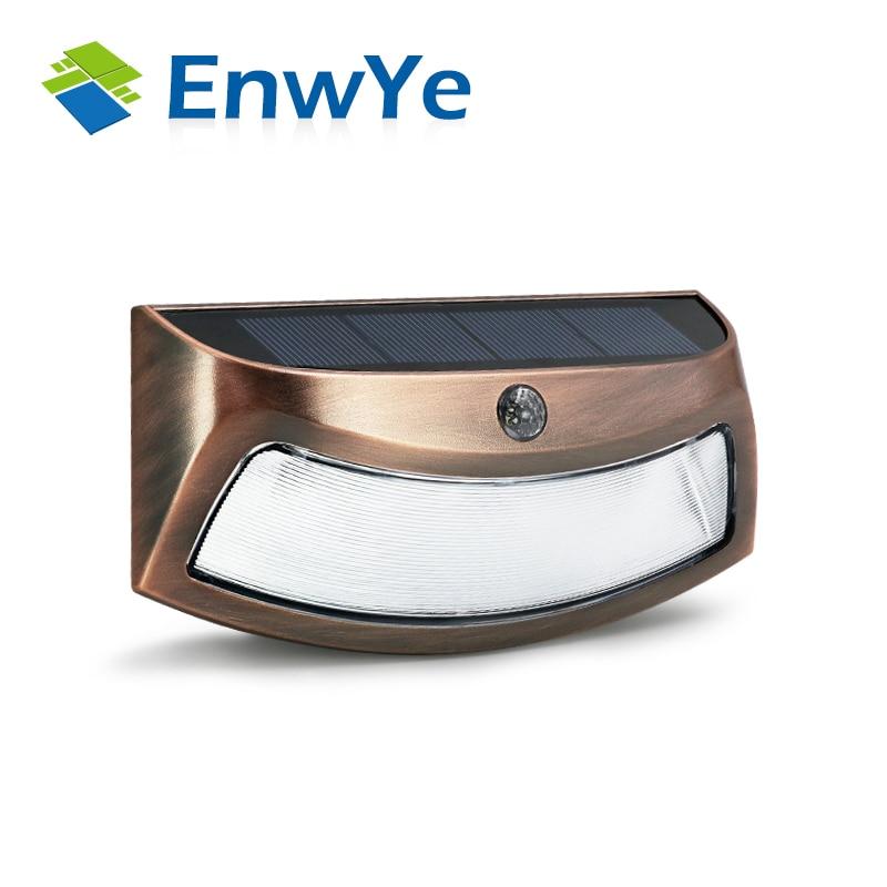 EnwYe LED Solar Power PIR Motion Sensor Wall Light Outdoor Waterproof Energy Saving Street Yard Path Home Garden Security Lamp