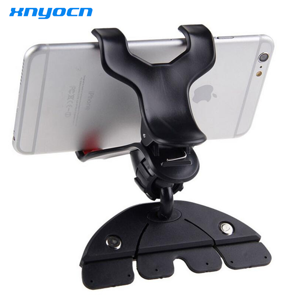 Universal CD Slot Car Cell Phone Holder Mount For iPhone 5 6 Plus For Samsung Galaxy