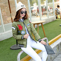 2016 Новая зимняя куртка женщины Корея мода равномерное теплые куртки зимние пальто женщин хлопка женские ветровки женские зимние куртки