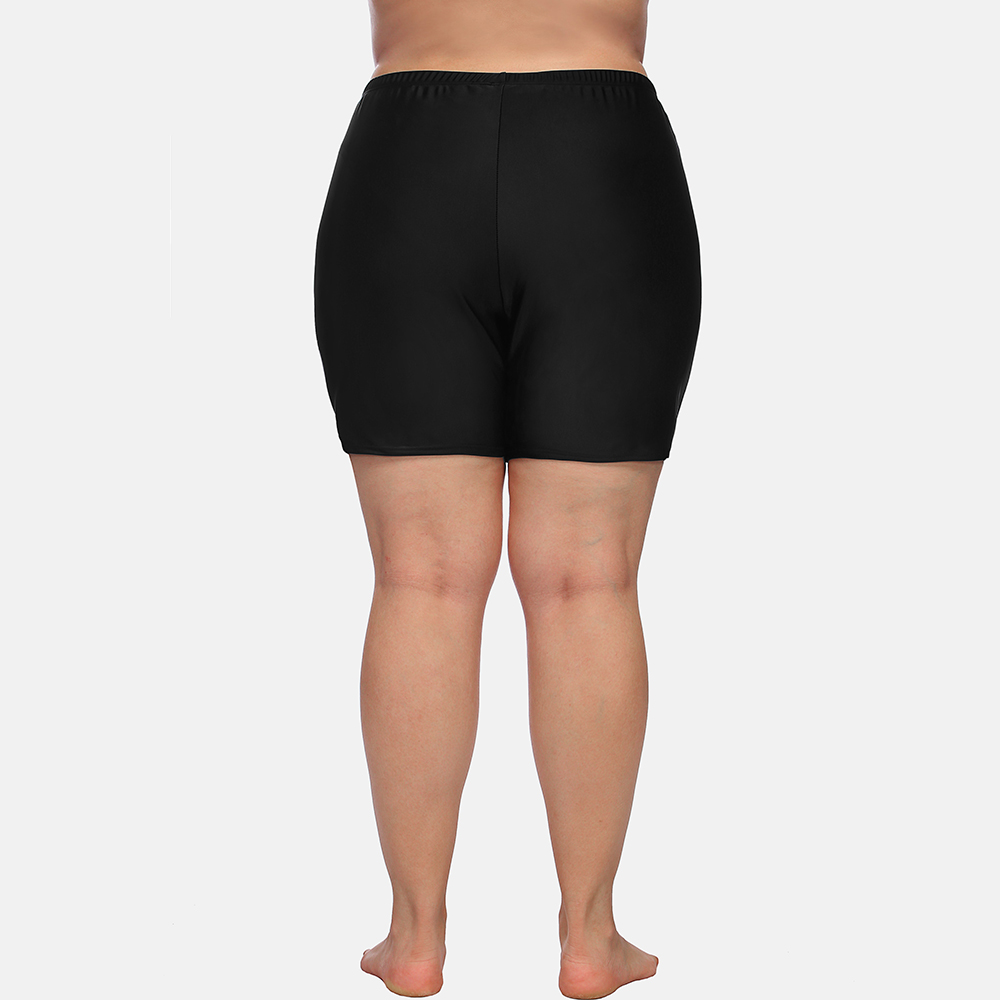 Anfilia Women High Waist Plus Size Swimming Trunks Ladies Plus Size Tankini Bottom Solid Swimwear Briefs Split Swimming Trunks in Two Piece Separates from Sports Entertainment