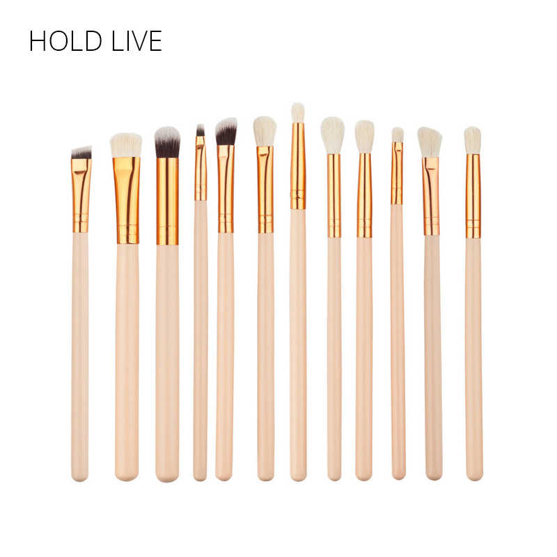 MANTER VIVO 12 Pcs Makeup Brushes Set Fundação Sombra Delineador Lip Pencil Blending Make Up Kit Para Os Olhos Make- up Kit de Cosméticos
