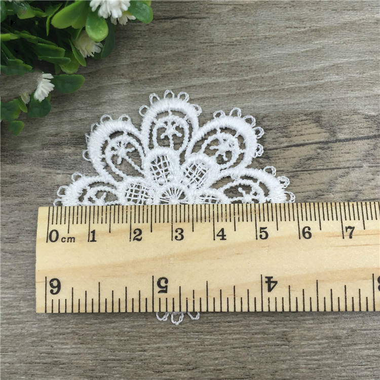 hot sale Spot supply 6 cm round flower The wind restoring ancient ways Water soluble embroidery buiter [sun accessories]