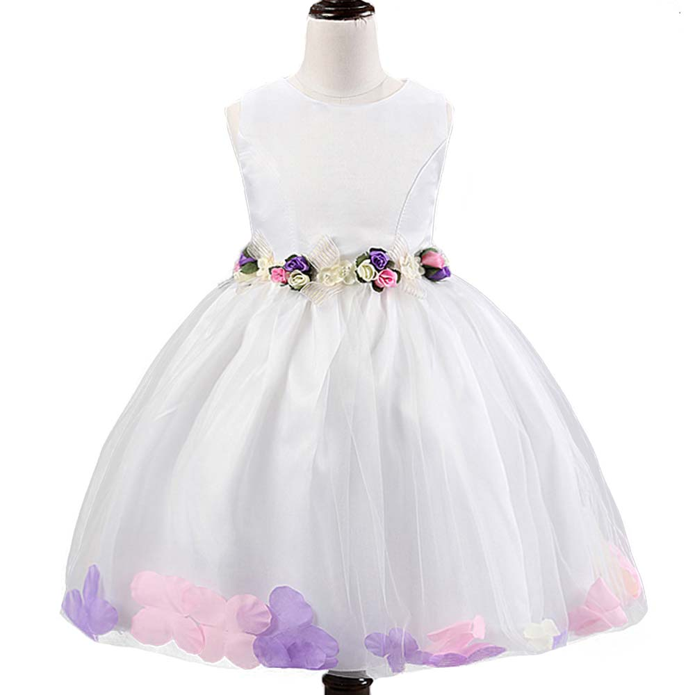 Children Dress Flower Girl Dresses for Wedding Kids Clothes Color Petal Princess Dress Toddler Girls Summer Dress Vestidos Mujer flower princess toddler girls dresses summer party girl dress kids dresses for girls clothes wedding