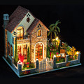 Diy houses love apartment Creative cabin model Assemble Wooden Miniature Doll House Christmas Gifts Dollhouse Furniture Toys