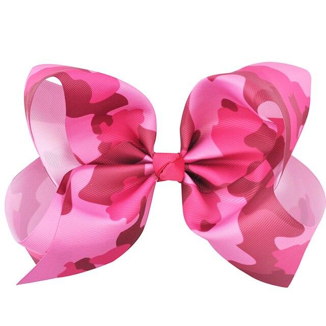 7c0abbdc9c00e New brand 8 Inch Boutique Large Ribbon Hair Bows Leopard Print Rainbow Girls  Hair Accessories women girl Festival Hair Clips