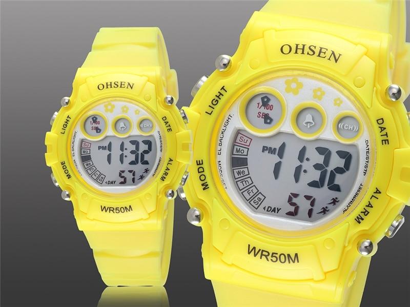 New 2019 OHSEN Digital Quartz Kids Boys Fashion Sports Wristwatch Rubber Band 50M Waterproof Sport Cartoon Cute Children Watches (18)
