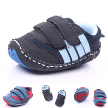PU Leather Newborn Baby Boy Shoes Soft Soles Non-slip Baby First Walkers Cute Spring Autumn Infant Baby Sport Shoes Sneaker DS19