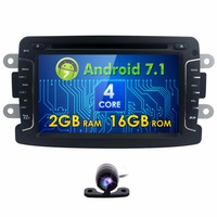 1din Android 7 1 7Inch Car DVD Radio Player For Dacia Sandero Duster Renault Captur Lada