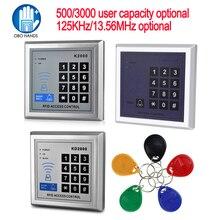 125KHz/13.56MHz RFID Scheda di Controllo di Accesso Autonomo con 10 Mifare telecomandi EM lettore di Schede di Serratura Della Porta Per sistema di entrata di Sicurezza