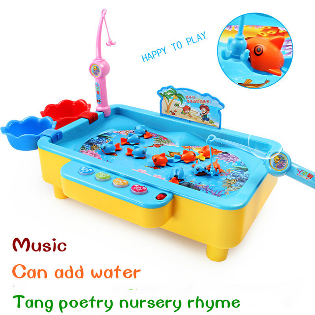 New souptoys electric magnetic music fish pond game for Koi pond game online