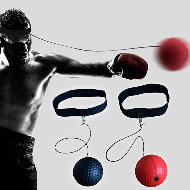 Gym PU Ball Speed Ball Boxing Magic Ball Reaction Ball Fight Training Reaction Ability Coordination Vent Fist With Head Band
