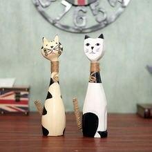 Лидер продаж Скандинавская деревянная парная кошка украшение