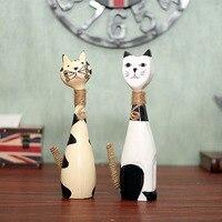 Hot Nordic Woodiness Paar Kat Versierd Woonkamer TV Kast Studie Kantoor Decoratie