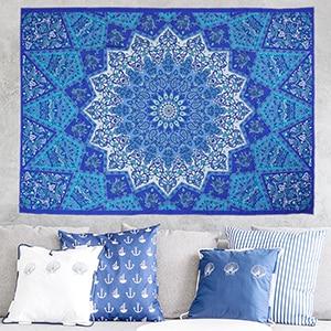 Vasaras pludmales dvielis Big Mediter Printed Flora sienas - Mājas tekstils