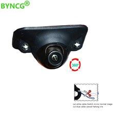 BYNCG Мини CCD Coms HD ночное видение 360 градусов автомобиля заднего вида Камера фронтальная камера вид спереди сбоку реверсивная резервная камера